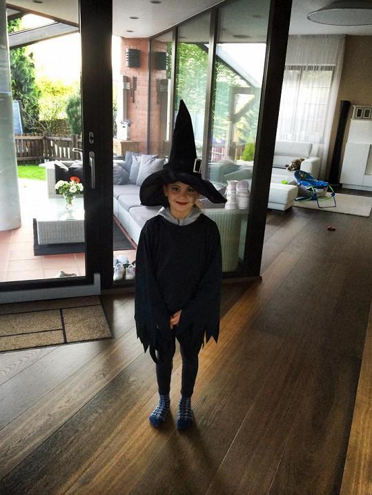 Viktorka jako malá čarodějnice