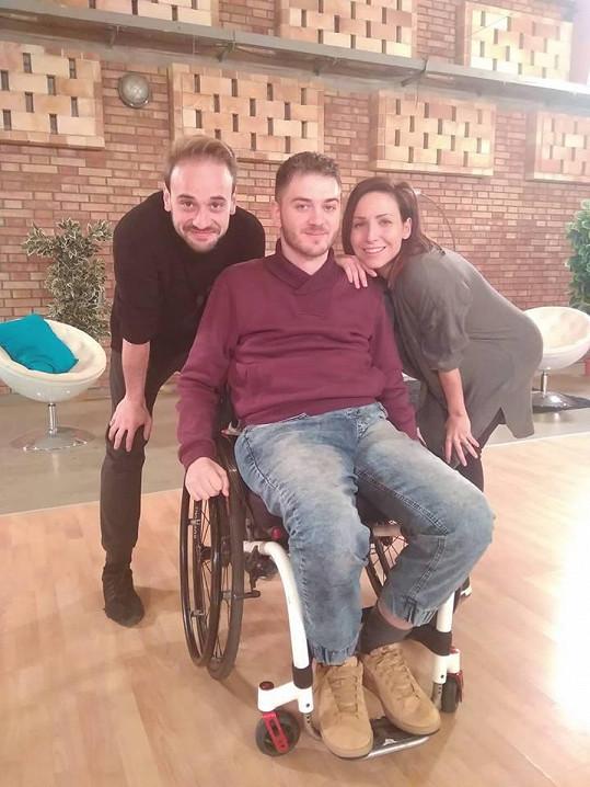 Veronika Arichteva s Michalem Necpálem a Tondou Branišem