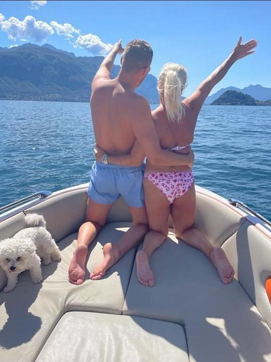 Monika Binias s manželem Petrem během dovolené v Itálii.