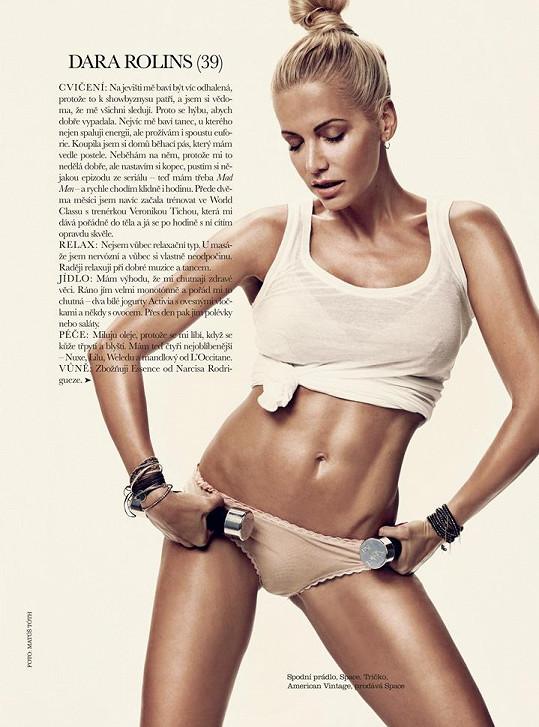 Dara Rolins v říjnovém vydání Elle.