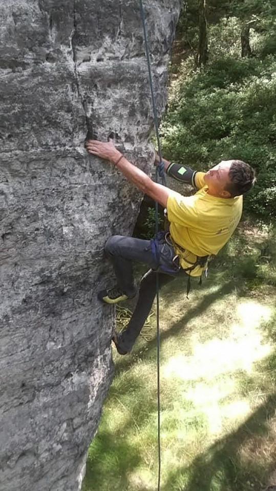 Martin Sitta se pochlubil fotkami z lezení.