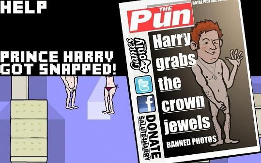 Princ Harry v nové počítačové hře.