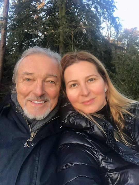 Jeden z posledních snímků Ivany s milovaným manželem.