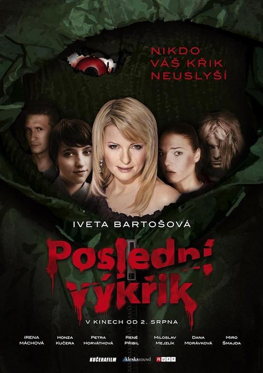 Plakát k novému filmu Ivety Bartošové.