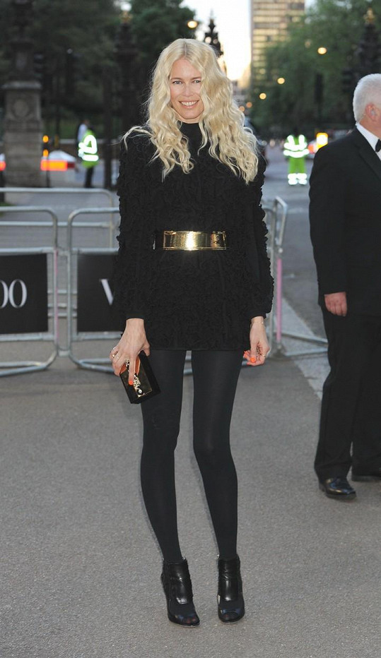 Claudia Schiffer na Vogue 100 Gala