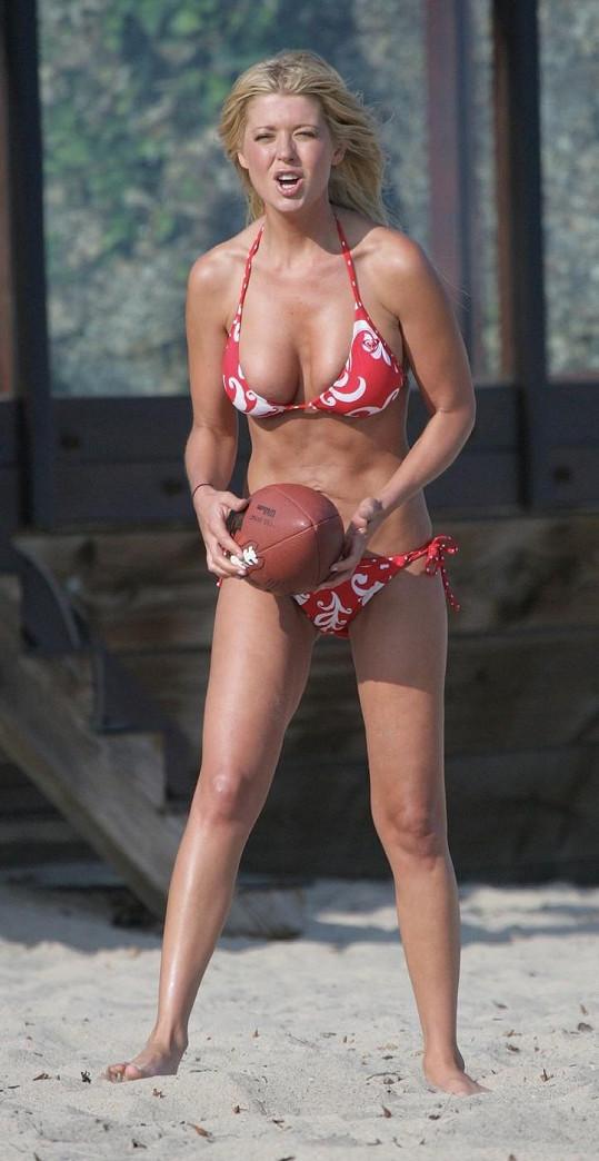 Herečka ještě s normální postavou v červenci 2007