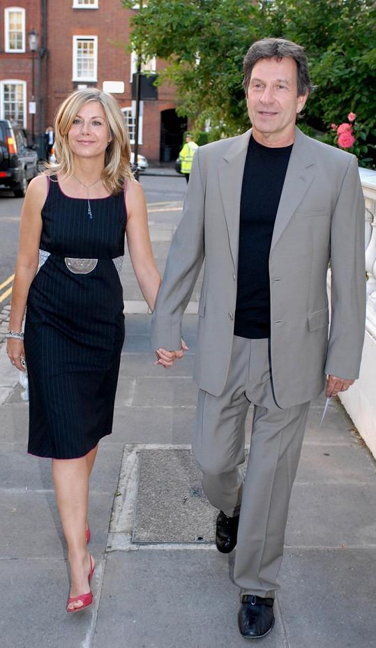 Se seriálovým parťákem a jejím osudovým mužem Michaelem Brandonem.