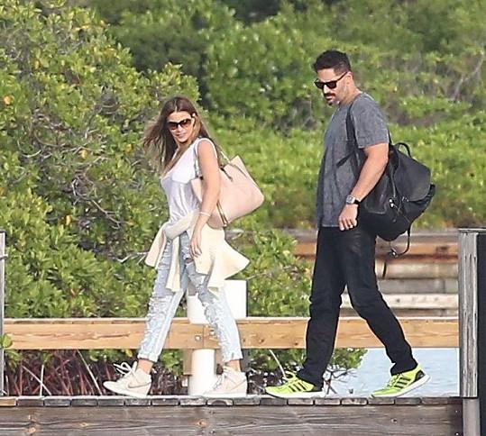 Herecký pár zavítal do resortu Parrot Cay.