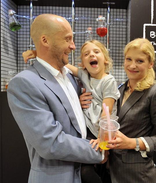 Jitka Ježková s manželem Milanem a dcerou Eliškou