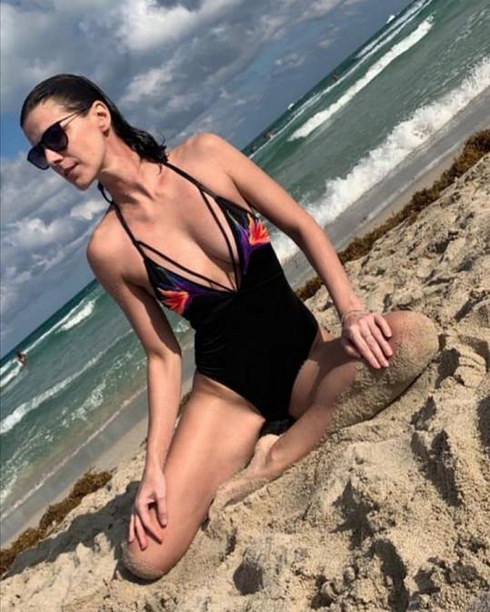 Kateřina Smejkalová na dovolené na Miami.