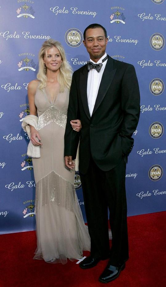 Tiger Woods s exmanželkou Elin Nordegren