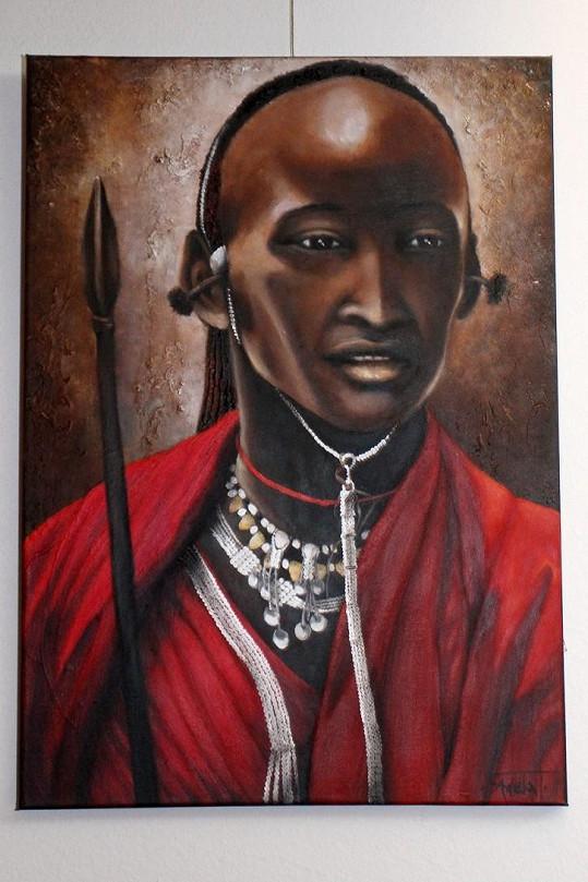 Africký lékař.