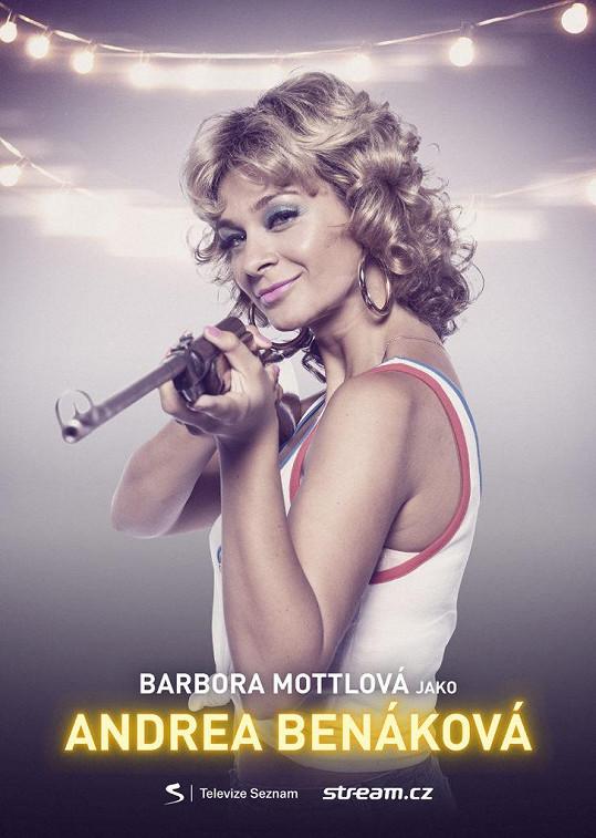 Bára na propagačním snímku seriálu Přijela pouť.