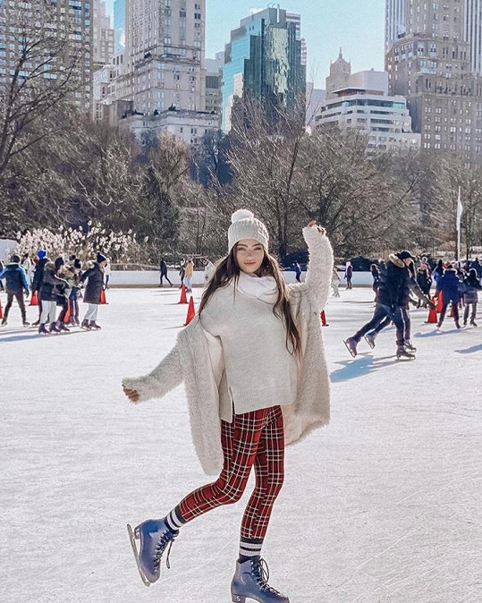 Užila si i bruslení v Central Parku.