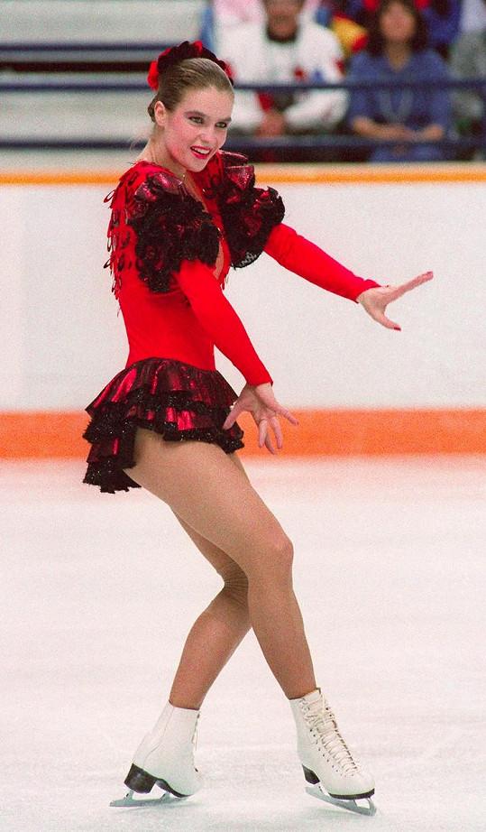 Katarina Witt na olympijských hrách v Calgary roku 1988, kde zopakovala svůj triumf ze Sarajeva.