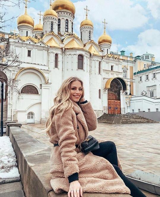 Karolíně se v Moskvě líbilo.