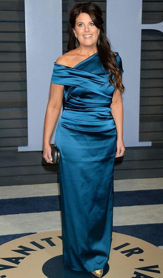 Monika Lewinská na oscarové párty magazínu Vanity Fair
