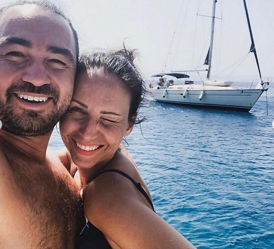 Výlet si užívala s manželem Biserem Arichtevem.