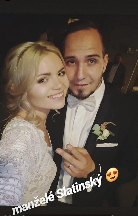 Veronika se vdala za Honzu loni v červenci.