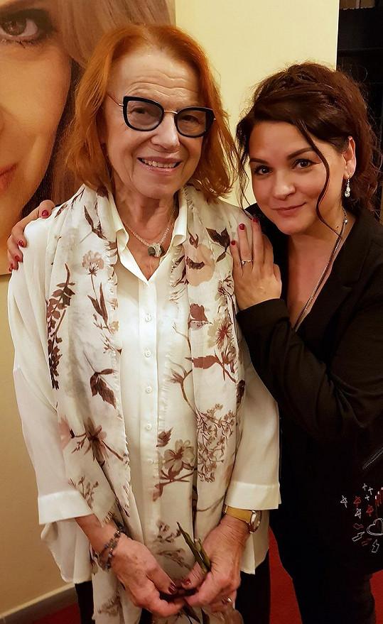 Magda Malá s jí obdivovanou Ivou Janžurovou