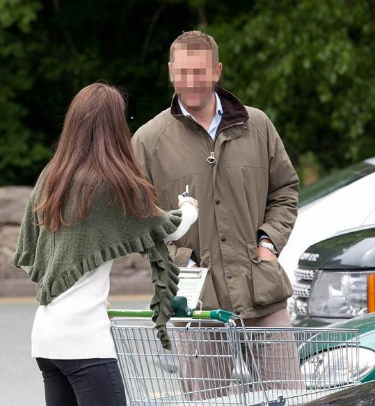Kate Middleton na nákupech