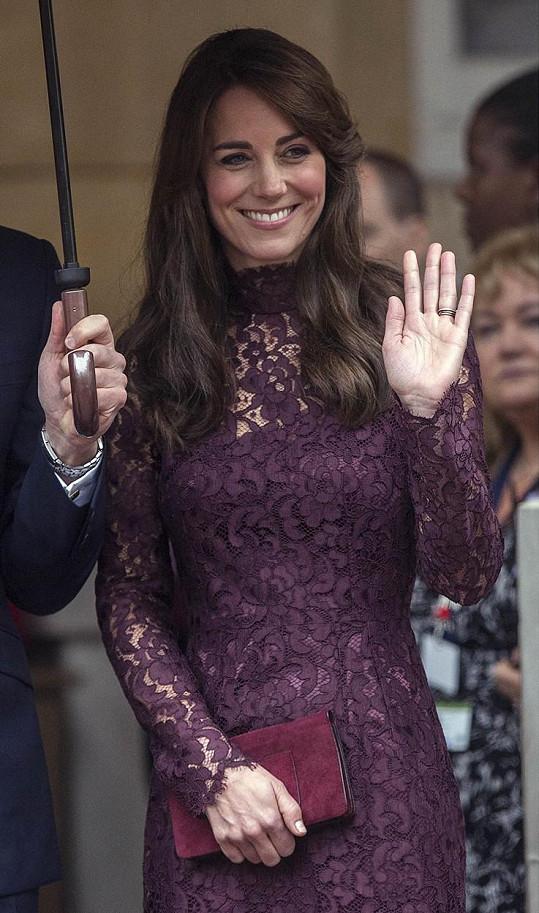 Kate jako vždy okouzlila všechny přítomné.
