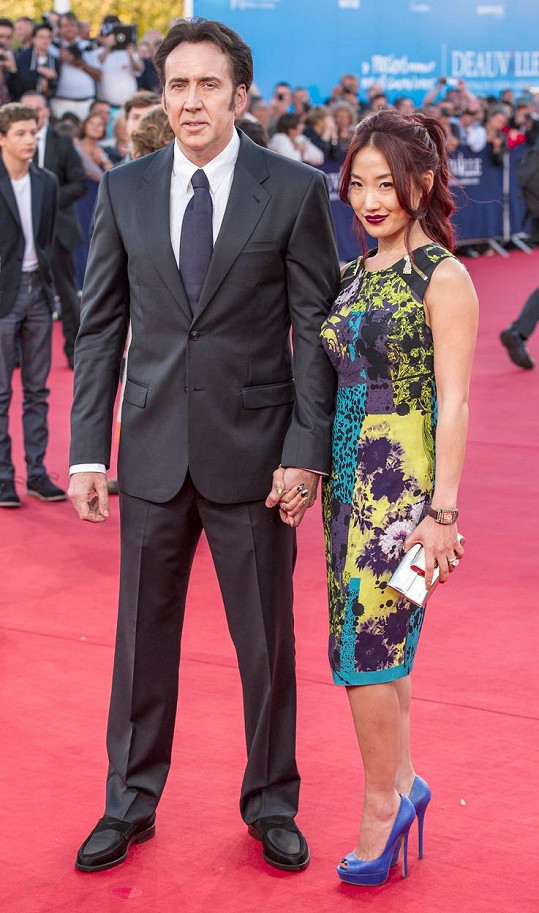 Nicolas Cage s manželkou Alice Kim