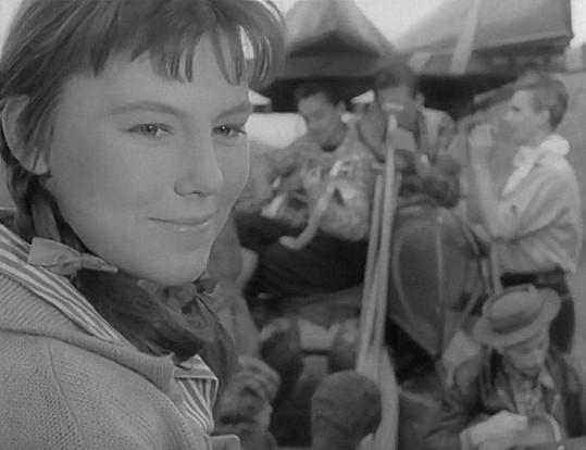 v povídce s názvem Pavučina měla svou první velkou filmovou roli....