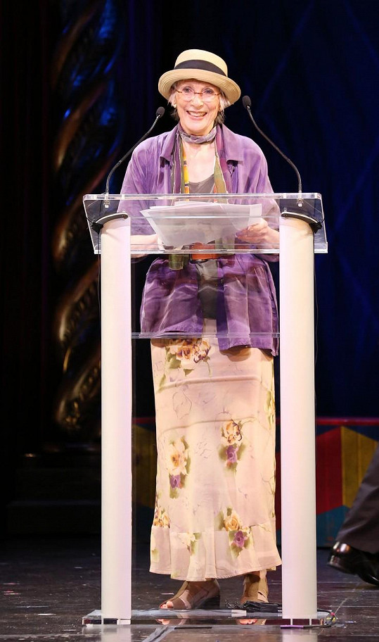 Patricia Elliott se v roce 2013 objevila na udílení divadelních cen v New Yorku.
