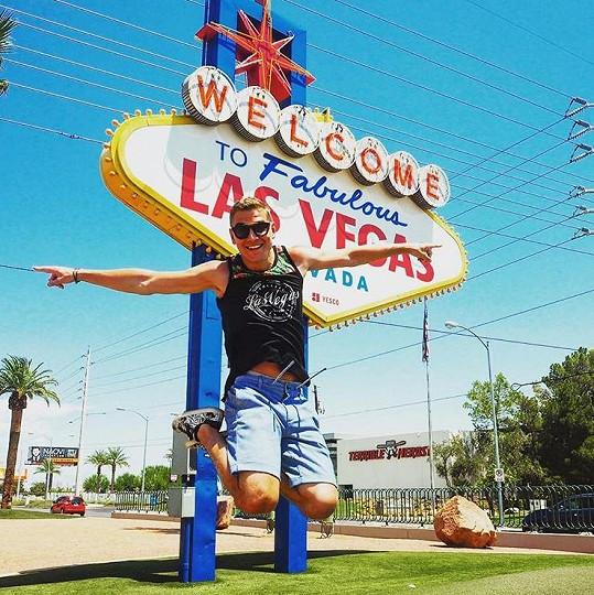 Gránský si během dovolené nemohl nechat ujít město hazardu Las Vegas.