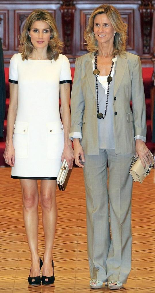 Letizia se španělskou ministryní Cristinou Garmendiou.