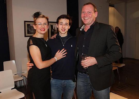 Moderátorka s partnerem a nevlastním synem.