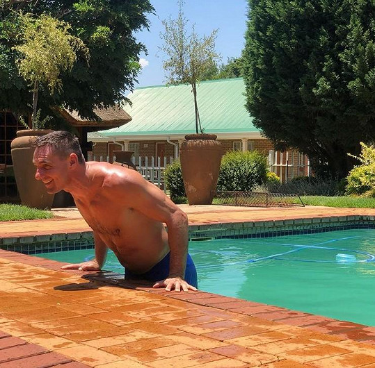 Šebrle si užívá krásné počasí v Jihoafrické republice.