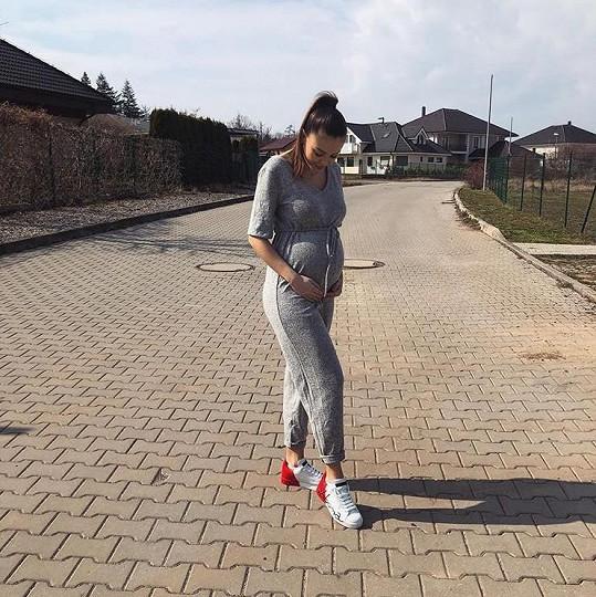 Monika Bagárová je v 8. měsíci těhotenství.