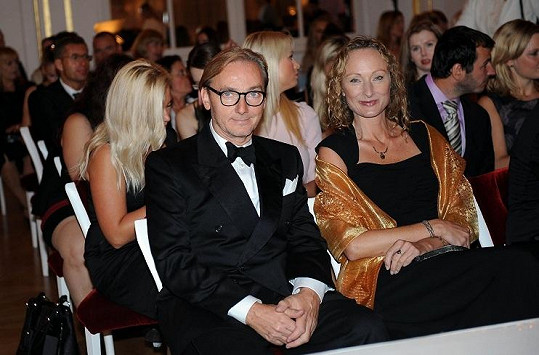 Ondřej Havelka s manželkou přišli fandit dceři.