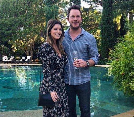 S manželem Chrisem Prattem
