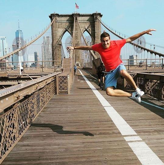 David si užívá na dovolené v New Yorku.