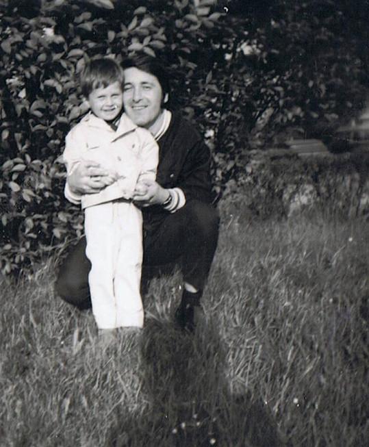 V dětství s otcem Jiřím