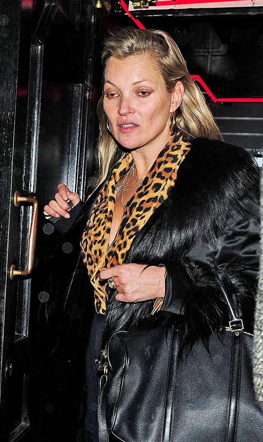 Kate Moss nebyla moc ve formě.