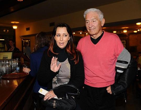 Do kina Lucerna přišla i Heidi Janků s manželem Ivo Pavlíkem.
