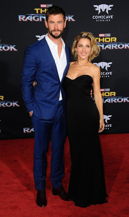 Chris Hemsworth a Elsa Pataky - rozdíl 30 cm