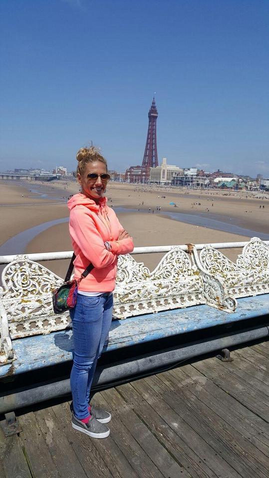 Ani foto před dominantou Blackpoolu nemohlo chybět.