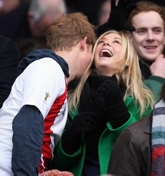 Princ Harry s přítelkyní na zápase rugby Anglie vs. Jihoafrická republika.
