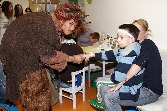 Bena se děti trochu bály.
