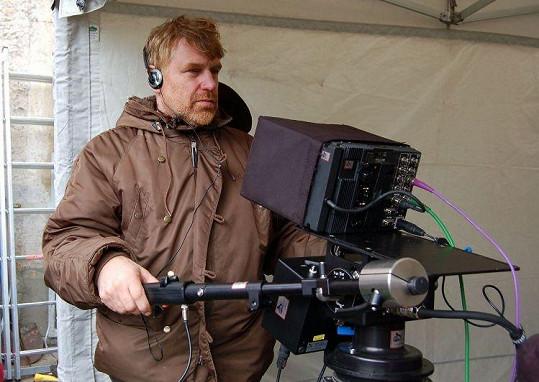Tomáš Vorel na prvním natáčení.
