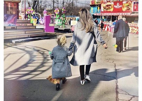 Tamara s nejstarší dcerou Josefínou