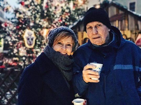 Jitka Schneiderová s tatínkem