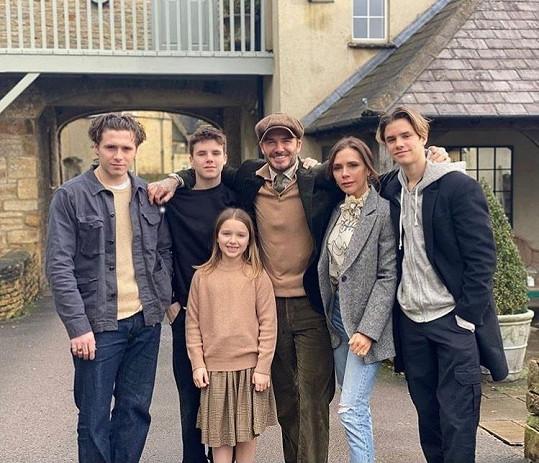 Rodina Beckhamových vypadá jako idylická.
