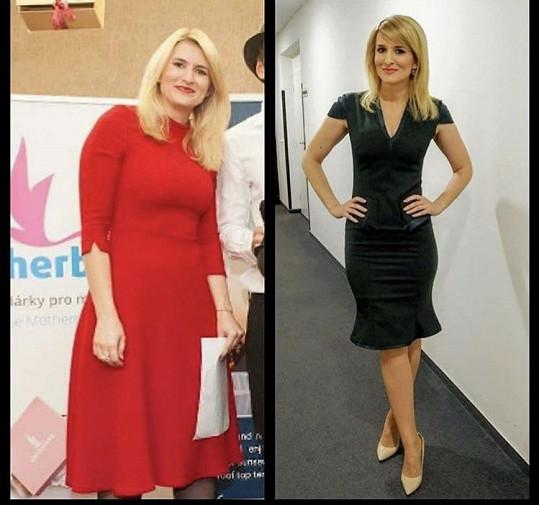 Dva roky zpátky měla o šest kilo více.