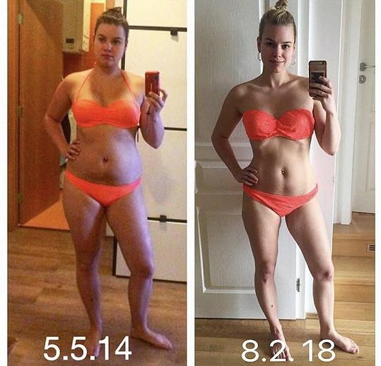 Patricie nedávno zveřejnila fotku z dob, kdy měla o dvanáct kilo více.